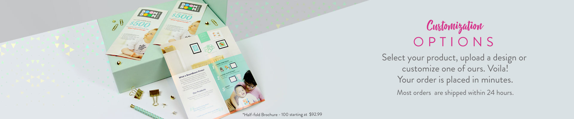 Customize Options Banner