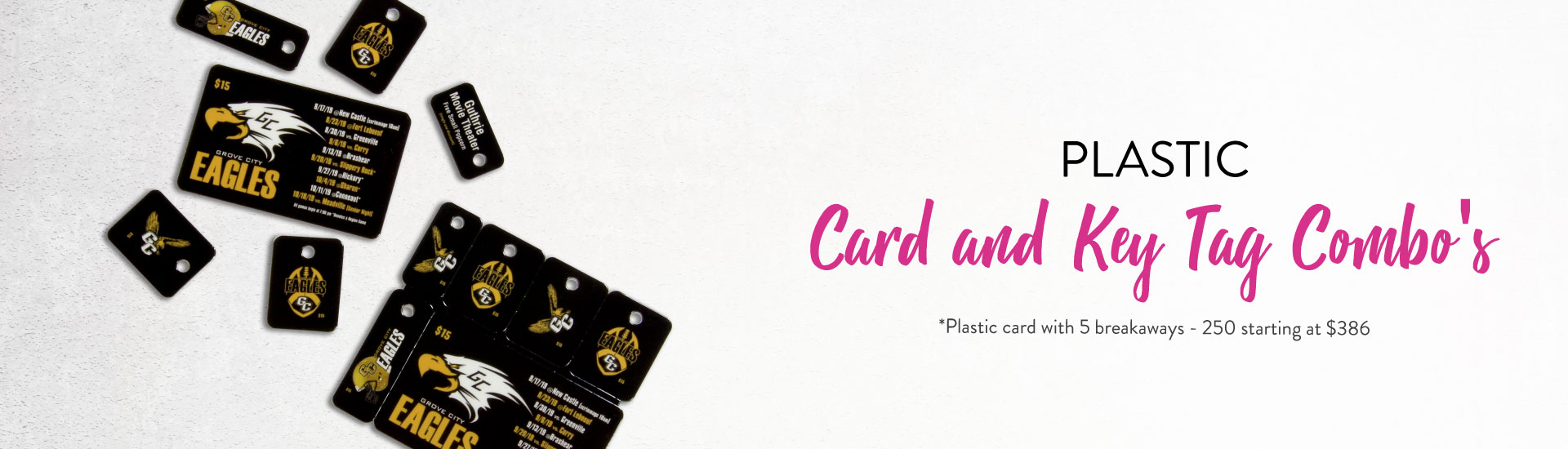Plastic Cards and Key Combo Banner