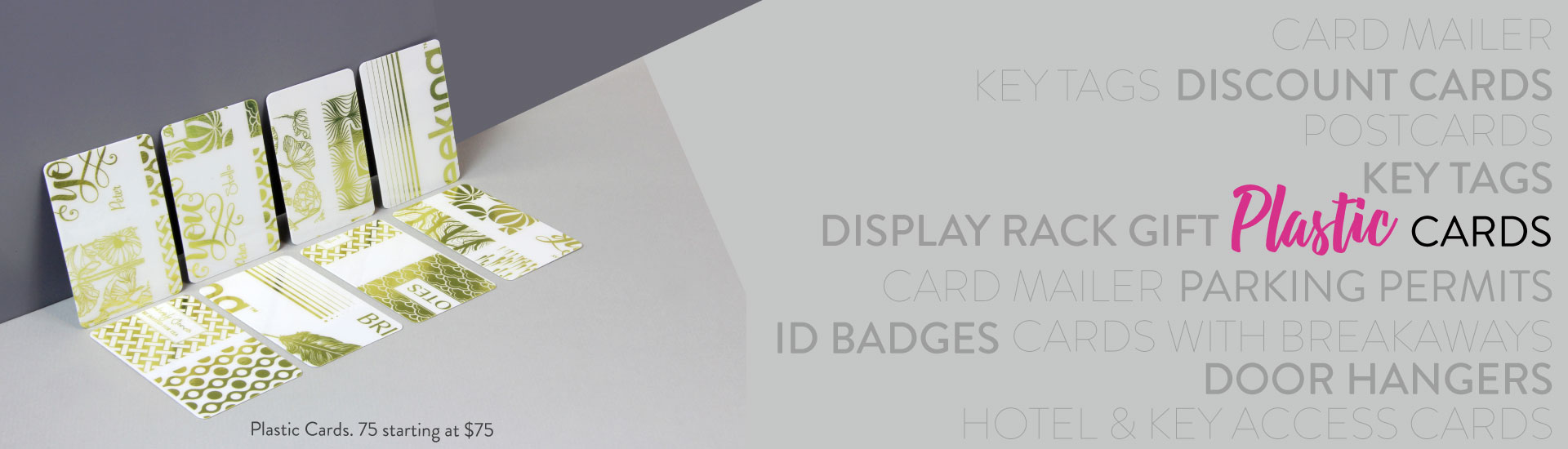 Plastic Card Products