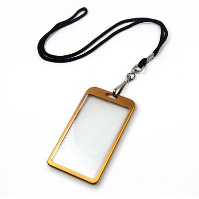 Gold Aluminum Card Holder Photo